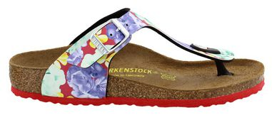 Birkenstock Gizeh photo print red narrow