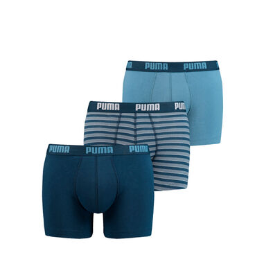 Puma boxerhort Baic 3-Pack Denim