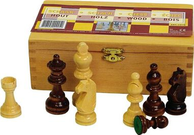 Abbey Game houten schaakstukken 76 mm
