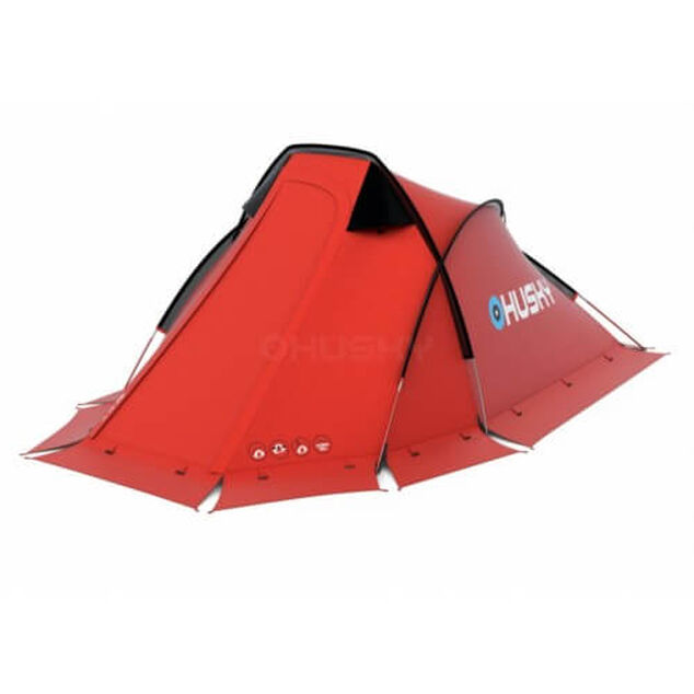 Husky Flame 1 Extreme - lichtgewicht tent - 1 persoons - Rood