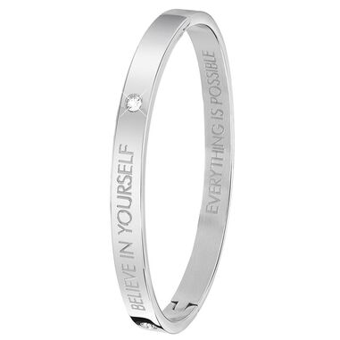 Guess stalen armband bangle Believe in yourself