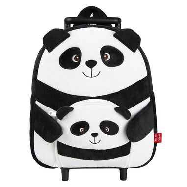 Perletti Trolley backpack Paul Panda 10 liter zwart/wit