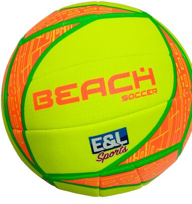 E&L Sports beachvolleybal geel/oranje maat 5