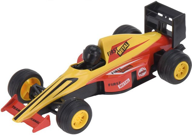 Free and Easy raceauto 13 cm geel
