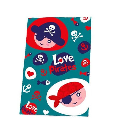 Kids Licensing fleecedeken Love Pirates junior 150 x 100 cm blauw