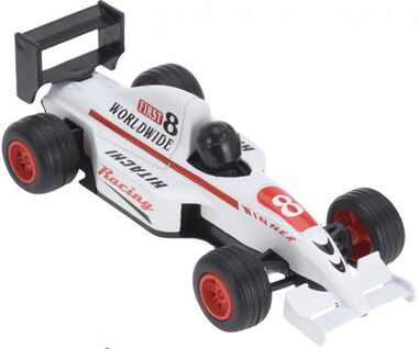 Free and Easy raceauto 13 cm wit