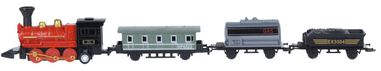 Free and Easy locomotief met wagons 20 cm 4-delig die-cast rood