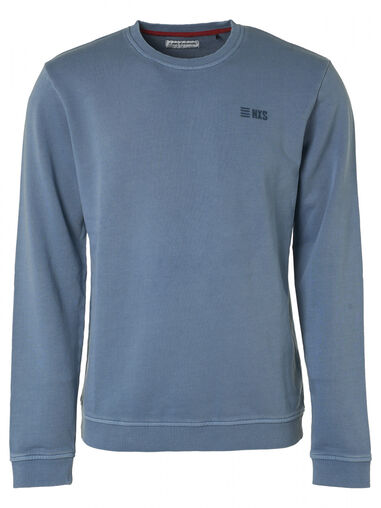 No Excess 95100110 123 crew neck sweater steel blue