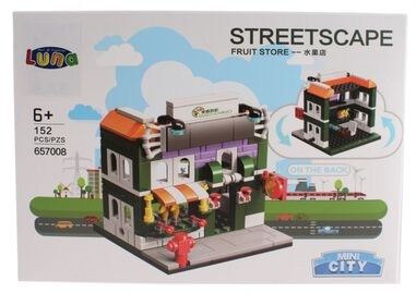 Luna Mini City Streetscape Fruit Store bouwset 152-delig (657008)