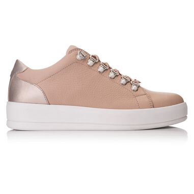 Hinson Jenner low pearls lt pink leather plain