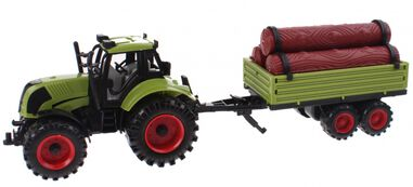 Johntoy speelset Junior Farming tractor en aanhanger 43 cm