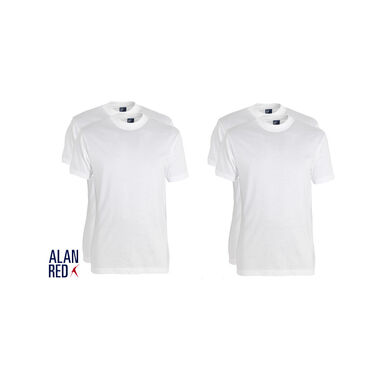 Alan Red 4-pack t-shirts virginia ronde hals wit