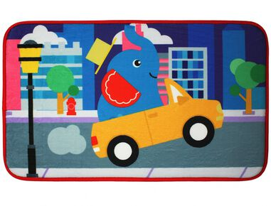 Fisher-Price vloerkleed fleece olifant 75 x 45 cm multicolor