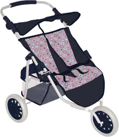 Baby and Toddler Braet Buggy Twin Circles / Stars Navy Blue