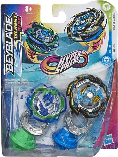 Beyblade Hypersphere Dual Pack Ogre O5 en Rock Dragon D5