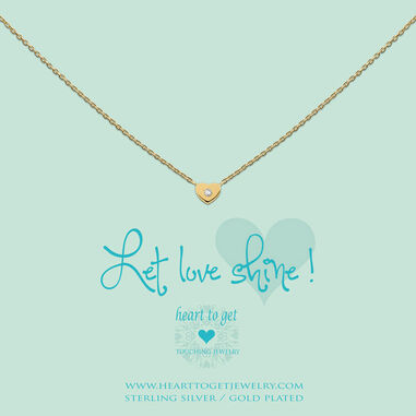 Heart to get N194HEZ13G Let love shine ! ketting goud
