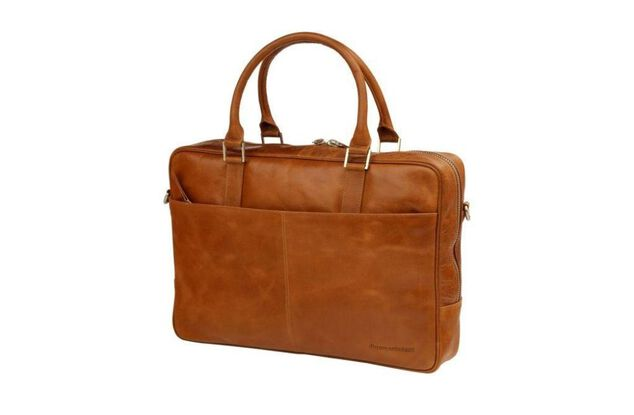 Dbramante1928 Leather business bag Rosenborg up to 16 Inch Golden tan