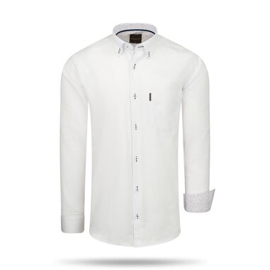 Regular Fit Overhemd White Heren Wit
