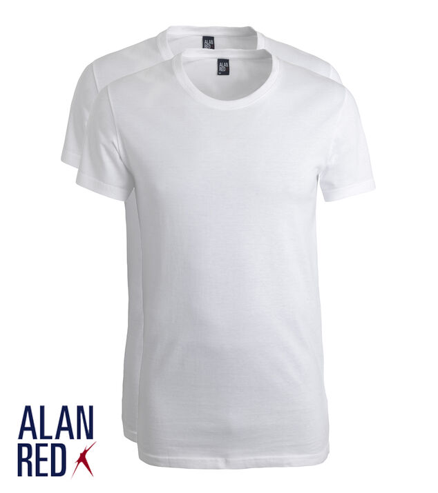Alan Red 2-Pack T-shirts JAES, extra wijde Crew Neck, Wit