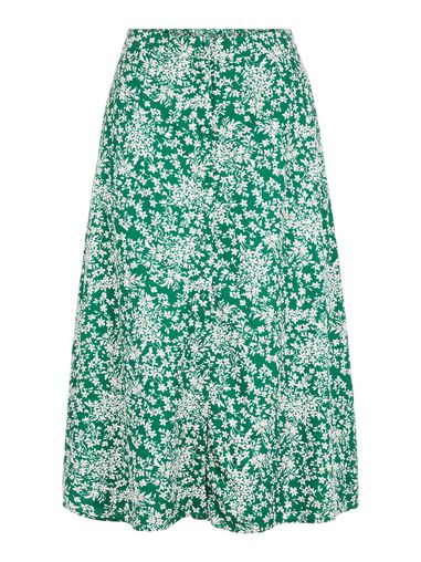 Pieces Middellange rok Bedrukte high-waist