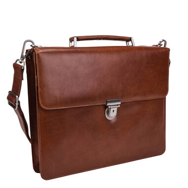 Leonhard Heyden Cambridge Briefcase 13'' cognac