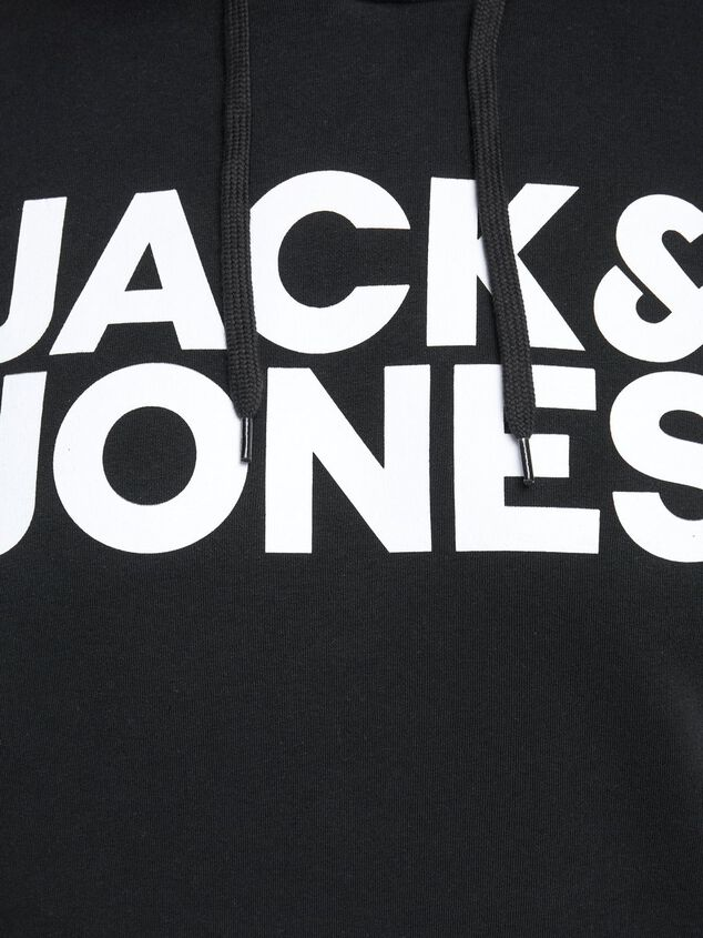 Jack & Jones Plus-size hoodie Basic logo
