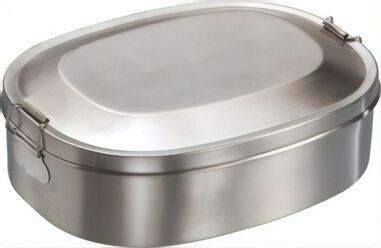 Mato lunchbox Break RVS 18 cm zilver