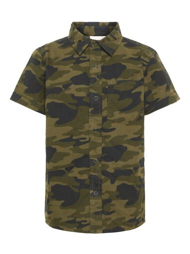Name it Overhemd korte mouwen camo print