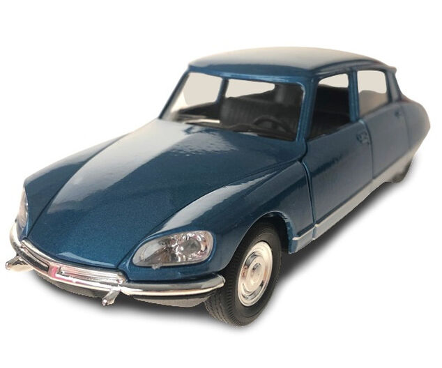 Toys Amsterdam auto Citroën DS 1973 pull-back 1:34-39 staal blauw
