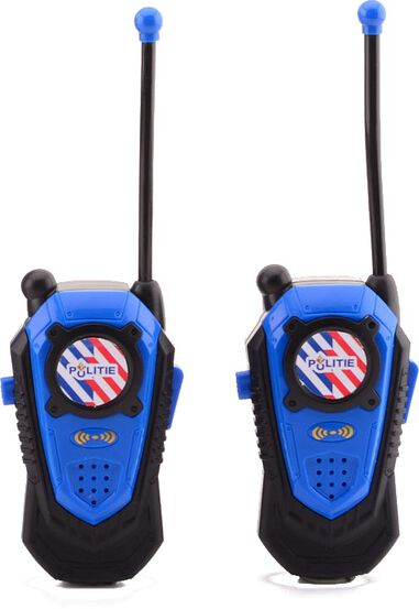 Johntoy walkie-talkie-set Politie 2-delig 80 mtr