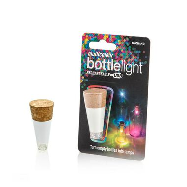 Suck UK Multicolor Bottle Light