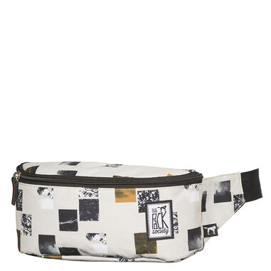 The Pack Society The Bum Bag Beige Blocks Allover