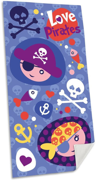 Kids Licensing strandlaken Pirates junior 70 x 140 cm polyester