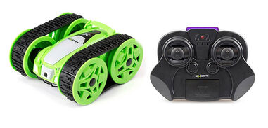 Exost stuntauto RC Mini Flip 9,5 x 8,5 cm junior 1:34 groen