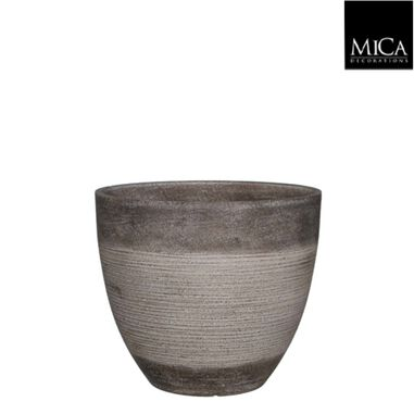 Echo pot rond taupe h27xd31 cm Mica Decorations