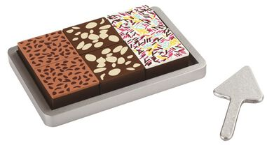 Mamamemo chocoladecake hout 18 cm bruin/wit
