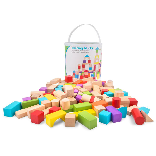 New Classic Toys bouwblokken Educational junior hout 100 blokken