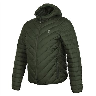 Fox Collection Quilted Jacket - Green Silver - Maat XXL