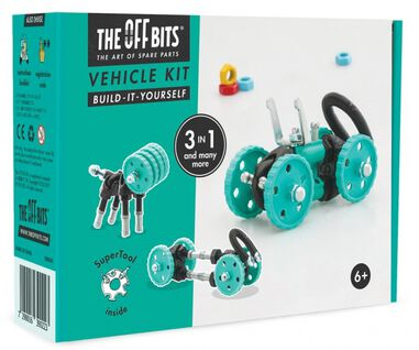 The Offbits bouwpakket Vehicle Kit 3-in-1 kit groen