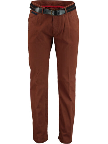 Bos Bright Blue Blue chino katoen stretch 1t.1711/035
