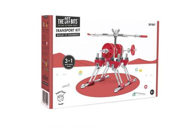 The Offbits bouwpakket Animal Kit Skybit 110-delig rood