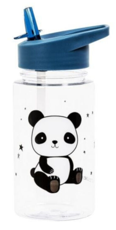 A Little Lovely Company drinkfles Panda junior 450 ml tritan blauw