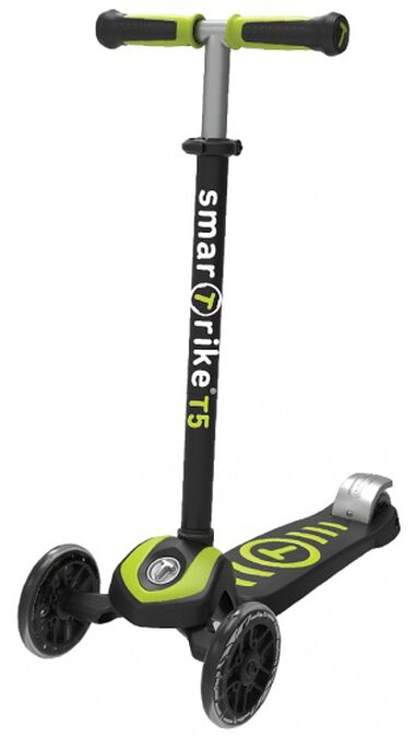 Scooter T5 step Junior Zwart/Groen
