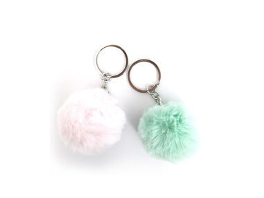 Pretty Paradise sleutelhanger pompom medium
