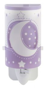 nachtlamp Moonlight glow in the dark 13 cm paars