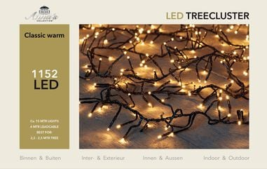 2,2-2,5m treecluster 15m/1152led classic warm Anna's collection