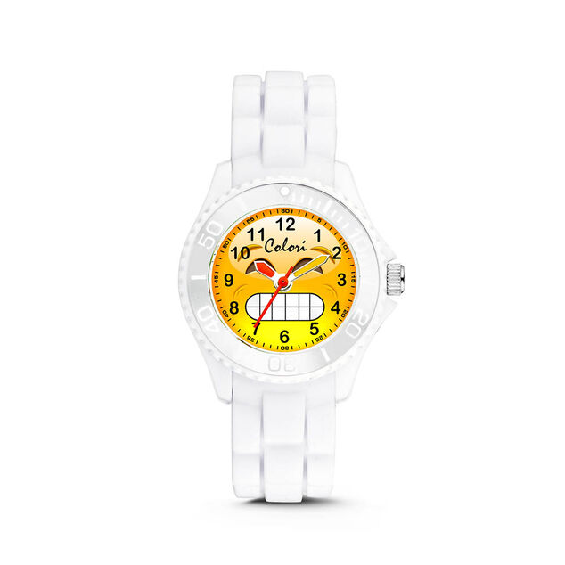 Colori kinderhorloge Happy Smile zwart 30 mm 5-CLK076