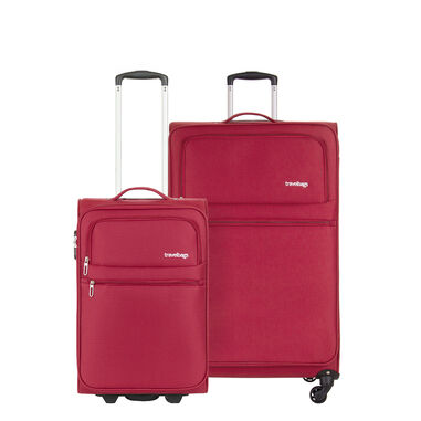 Travelbags Lissabon 2 Delige Trolley Set red