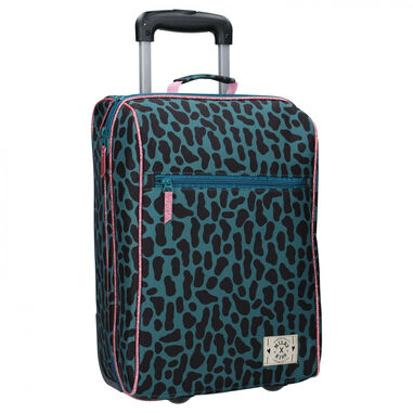 Milky Kiss trolley Time to Travel 31 liter polyester donkergroen
