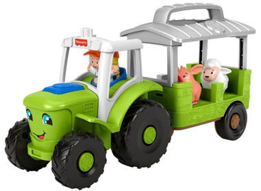 Fisher-Price tractor Little People junior grijs/groen 5-delig